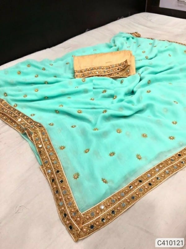 Marble Embroidery Dot Print Regular Sarees Vol-2