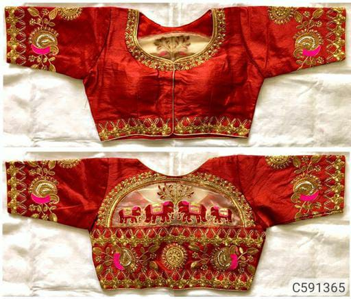 Glorious Heavy Silk  Zari Work Ready to Wear Blouses