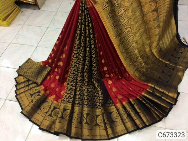 Designer Banarasi Silk Zari Weaving Regular Sarees