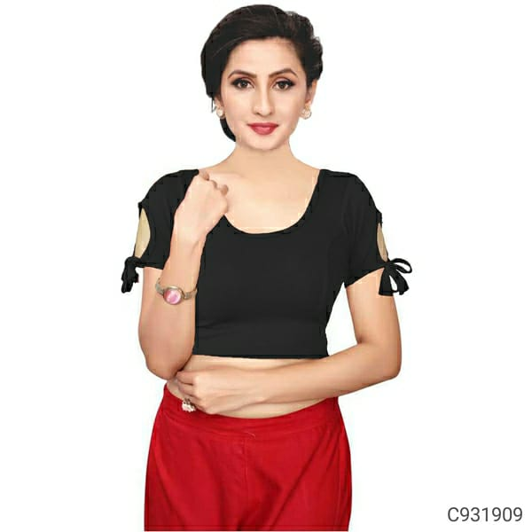 Gorgeous Cotton Lycra Solid Blouses