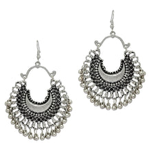 Silver Color Partywear Collection Afghani Earrings