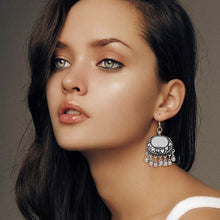 Partywear Collection Silver Color Mirror Work Oxidised Earrings