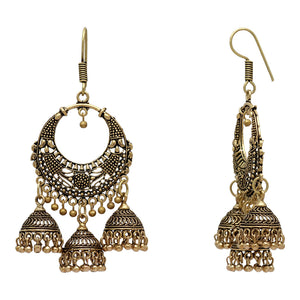 Gold Color Jhumki Earrings -  by Shrayathi