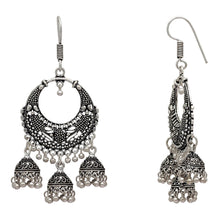 Silver Color Traditional Jhumki Earrings For Girls & Women -  by Shrayathi