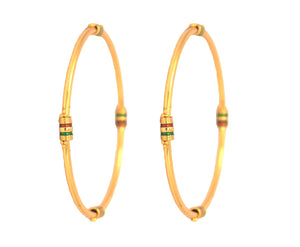 Gold plated enamel bangle - Bangle by Shrayathi