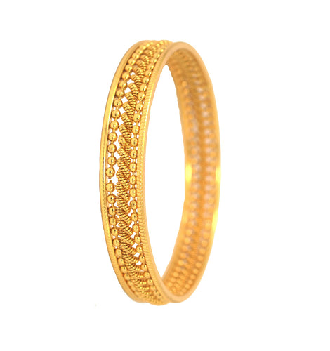 Traditional gold plated bangle - Bangle by Shrayathi