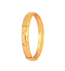 Traditional design gold plated bangle - Bangle by Shrayathi