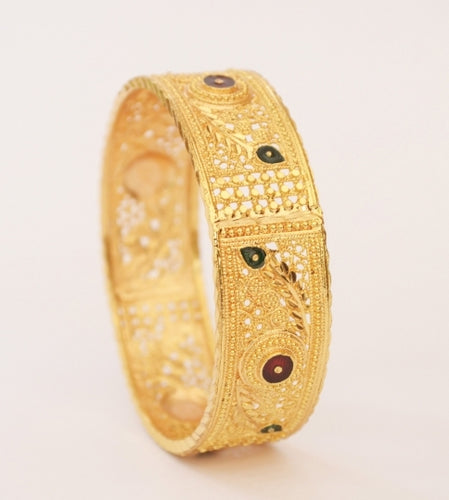 Elegant enamel bangle - Bangle by Shrayathi