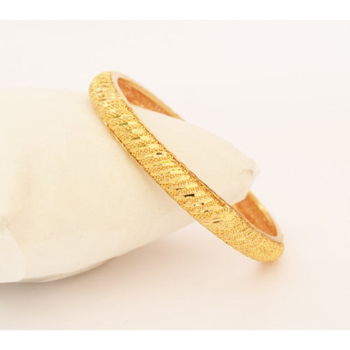 Gold plated shiny cut bangle - Bangle by Shrayathi