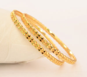 Trendy gold plated bangle - Bangle by Shrayathi