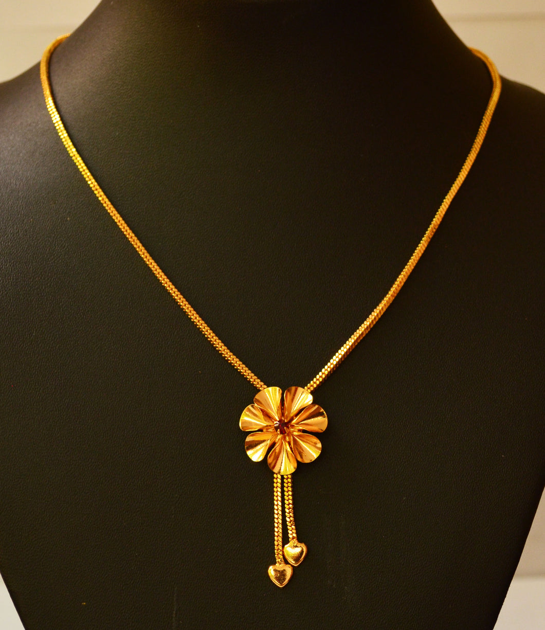 Trendy flower shape Necklace -  by Shrayathi