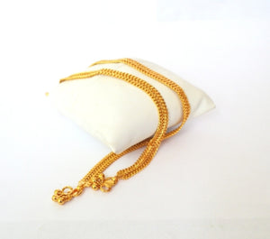 Gold plated anklet -  by Shrayathi