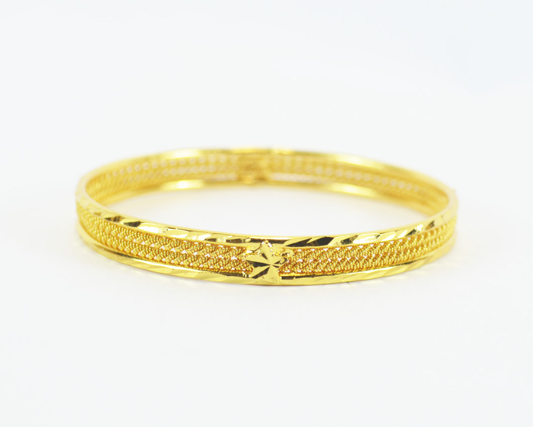 Beautiful gold plated shiny bangle - Bangle by Shrayathi