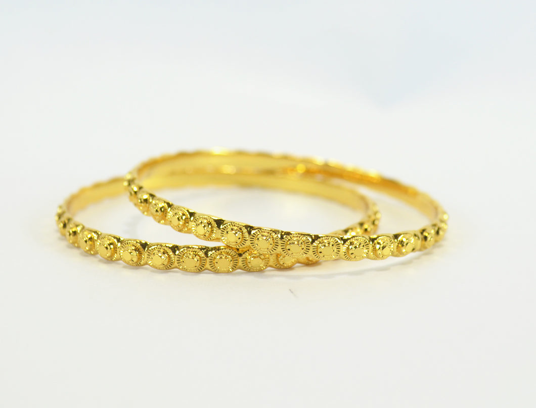 Beautiful set of gold plated bangle - Bangle by Shrayathi