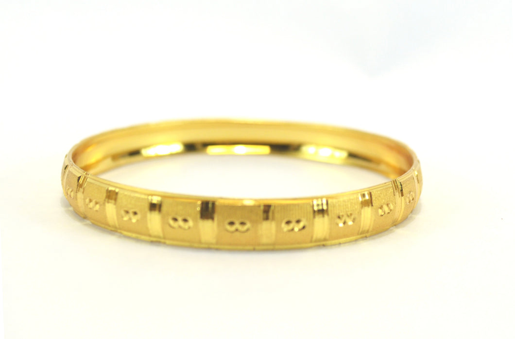 Trendy gold plated kada bangle - Bangle by Shrayathi
