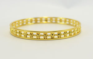 Gold plated mesh bangle - Bangle by Shrayathi