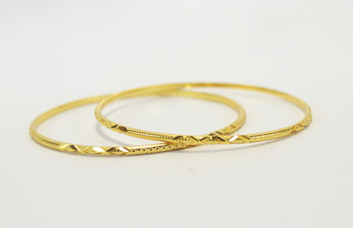 Daily use gold plated bangle - Bangle by Shrayathi