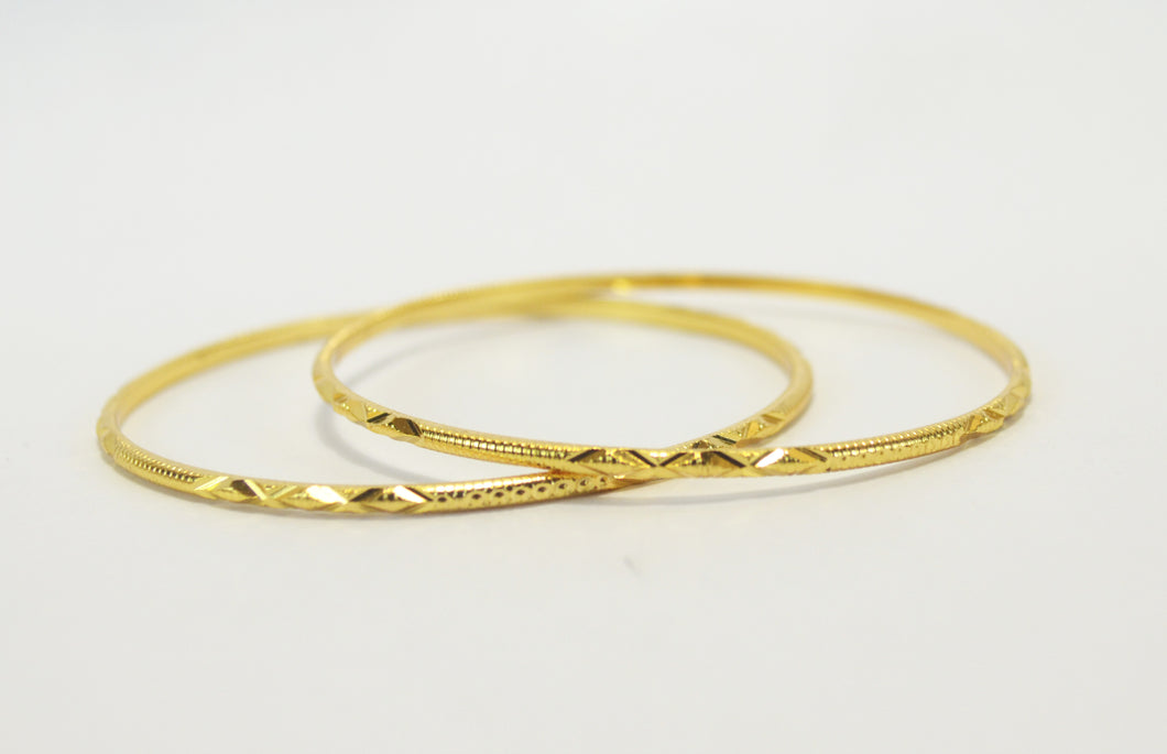 Finely gold plated bangle - Bangle by Shrayathi