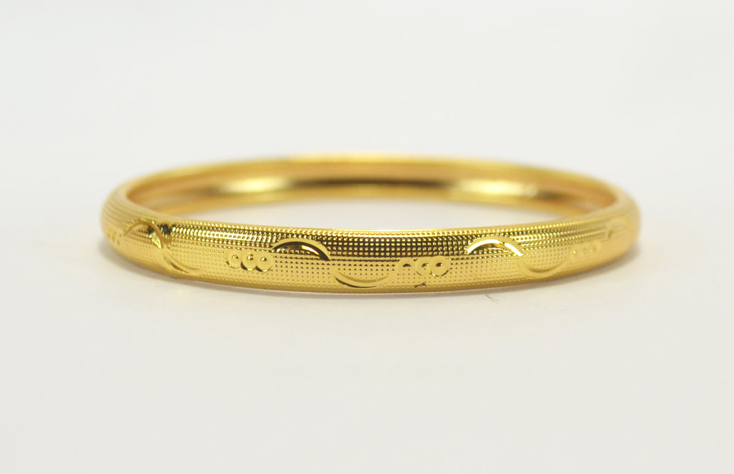 Gold plated single bangle - Bangle by Shrayathi