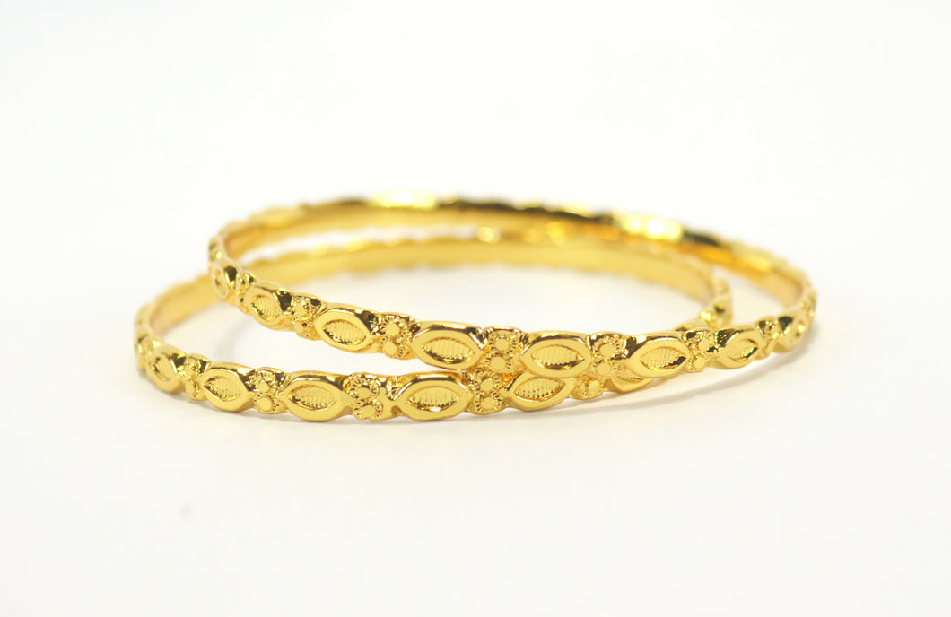 Gold plated daily wear bangle - Bangle by Shrayathi