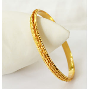 Trendy design gold plated bangle - Bangle by Shrayathi