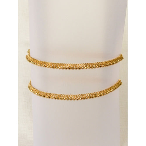 Traditional gold plated anklet -  by Shrayathi