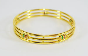 Enamel three layer bangle - Bangle by Shrayathi