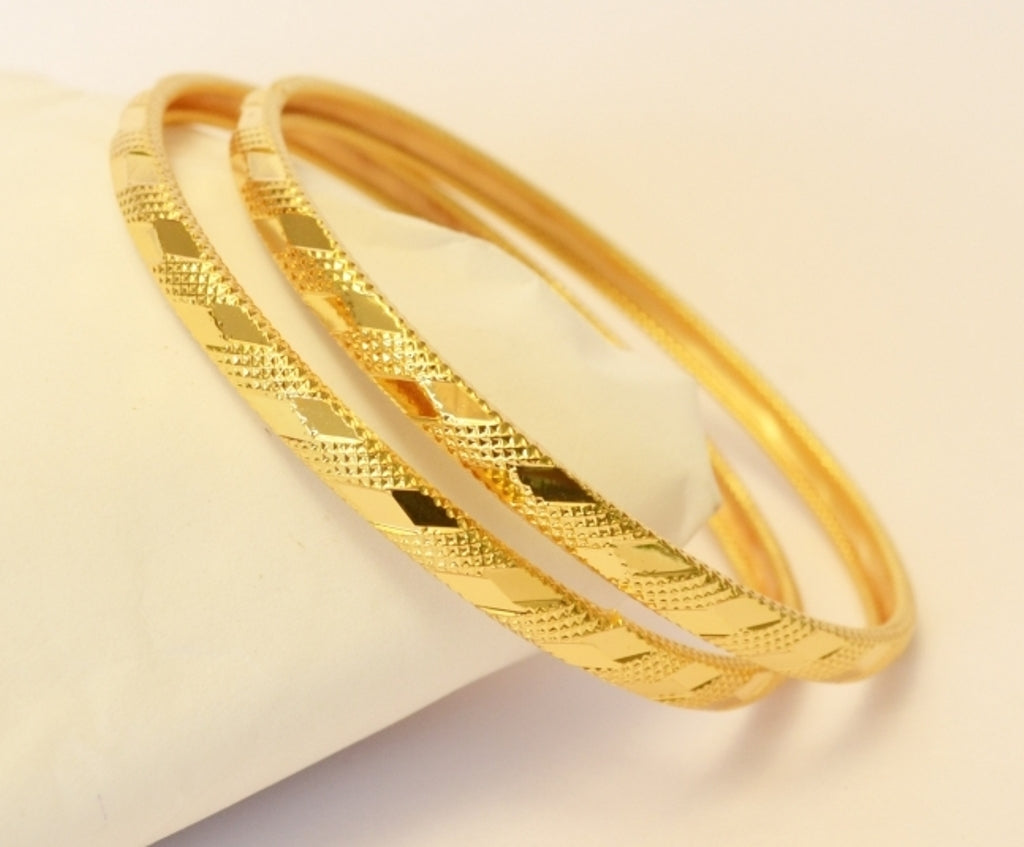 Gold plated bangle set - Bangle by Shrayathi