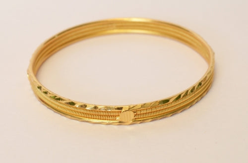 Gold plated trendy design bangle - Bangle by Shrayathi