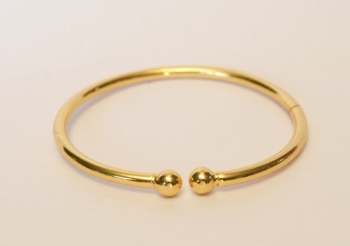Gold plated dot bangle - Bangle by Shrayathi