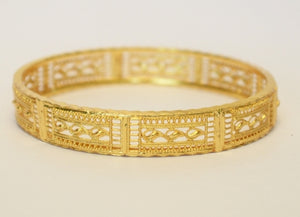 Mesh design bangle - Bangle by Shrayathi