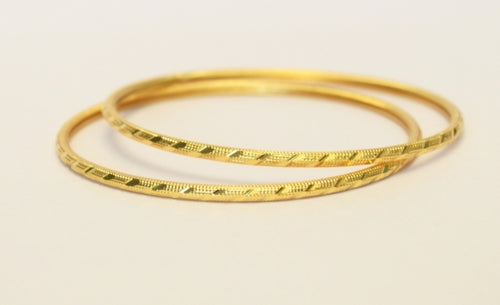 Beautiful small gold plated bangle - Bangle by Shrayathi