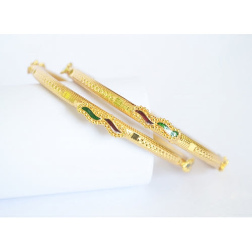 Enamel bangle set - Bangle by Shrayathi