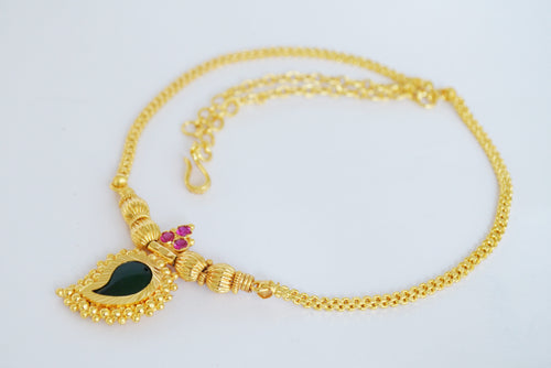 Green Mango Necklace -  by Shrayathi