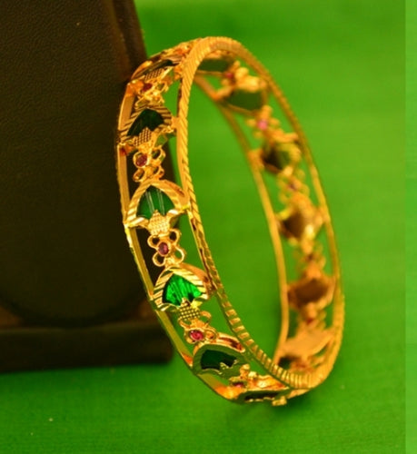 Green Palakka Bangle - Bangle by Shrayathi