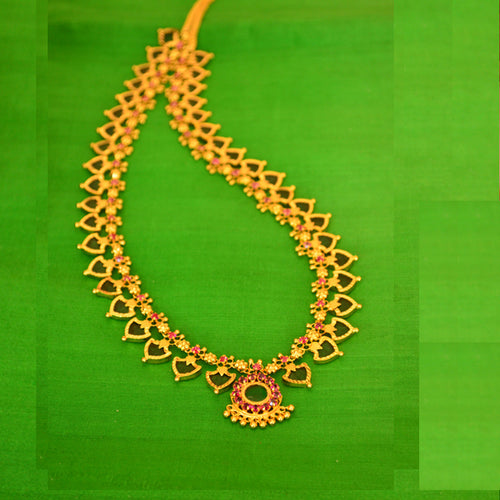 Green Long Palakka Necklace