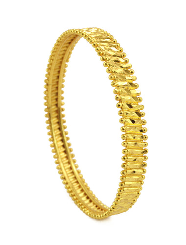 Ethnic gold plated bangle - Bangle by Shrayathi