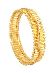 Finely gold plated kada bangle - Bangle by Shrayathi