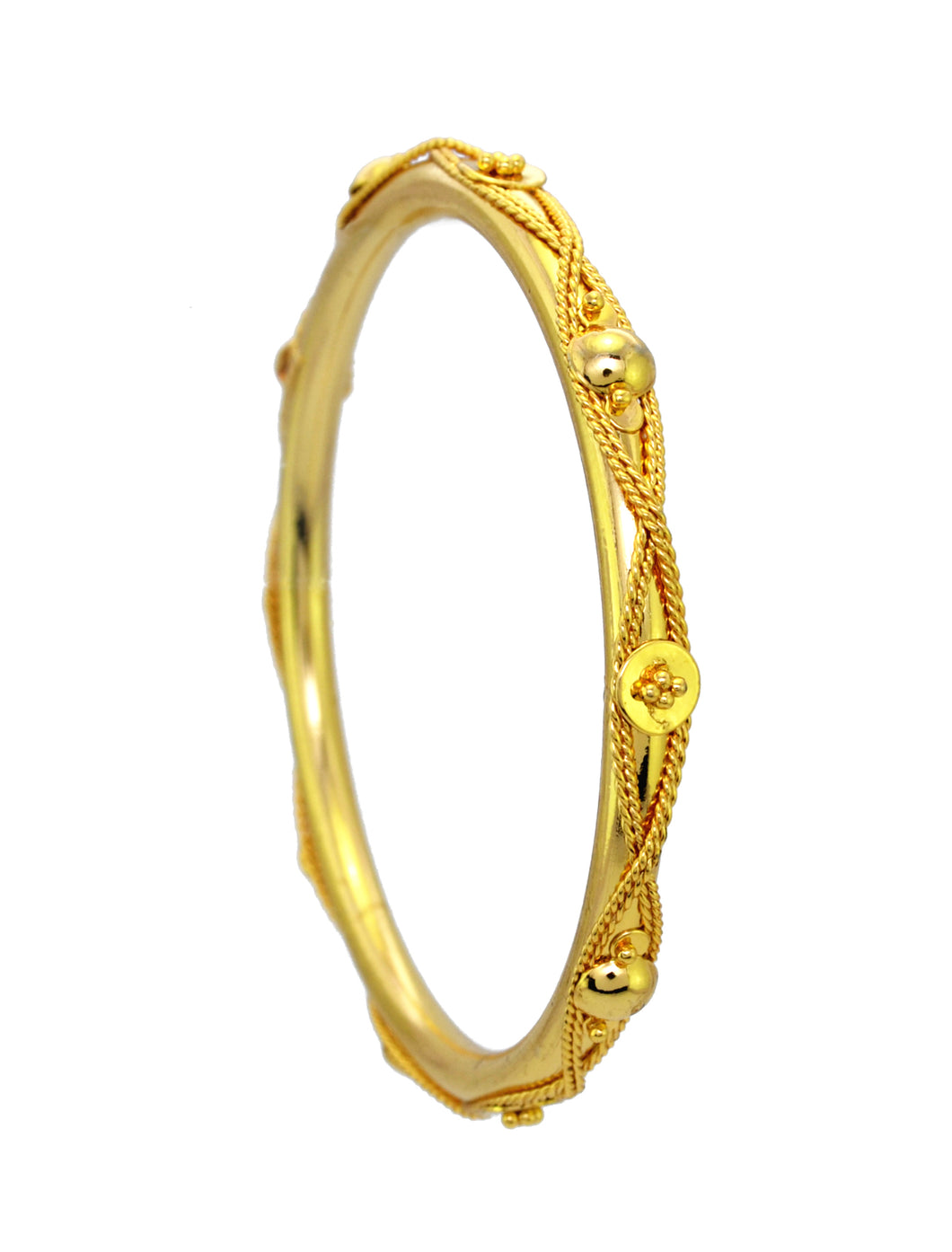 Beautiful Traditonal gold plated bangle - Bangle by Shrayathi