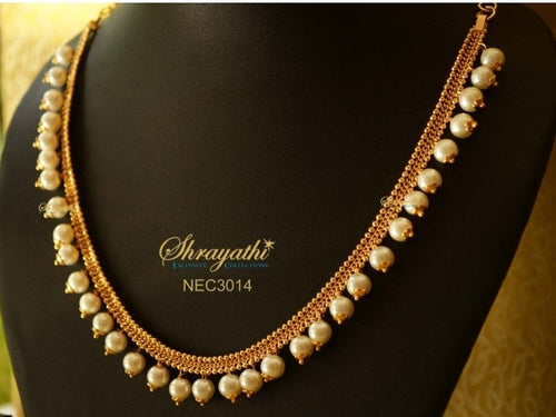 White beaded Necklace - Sold One Lakh Necklaces