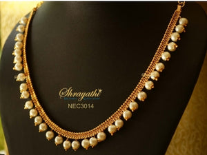White beaded Necklace - Sold One Lakh Necklaces -  by Shrayathi