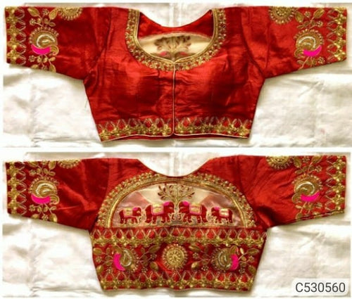 Trendy Heavy Silk Hand Work & Tread Work Blouse