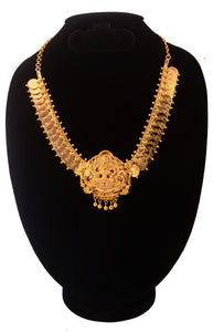 necklace with lekshmi pendant