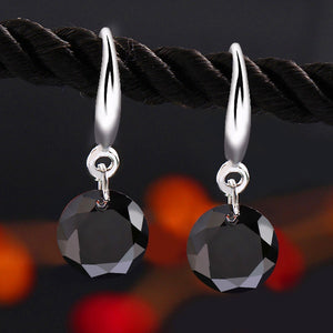 Classic Silver Color Earrings -  by Shrayathi