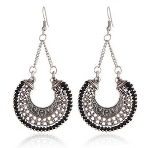 Ethnic Retro Metal Drop Earrings -  by Shrayathi