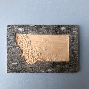 Reclaimed Wood Topographic Map