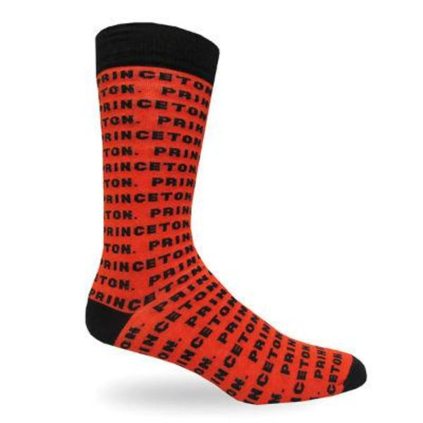 Princeton Men's Text Dress Crew Socks (10-13)