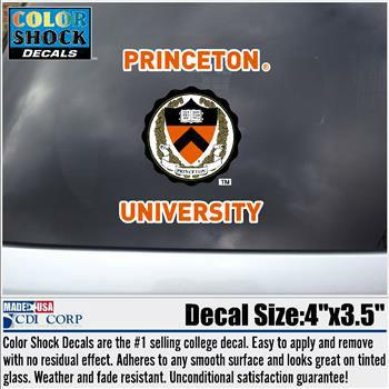 Princeton University - Seal - Decal/Sticker (Outside)