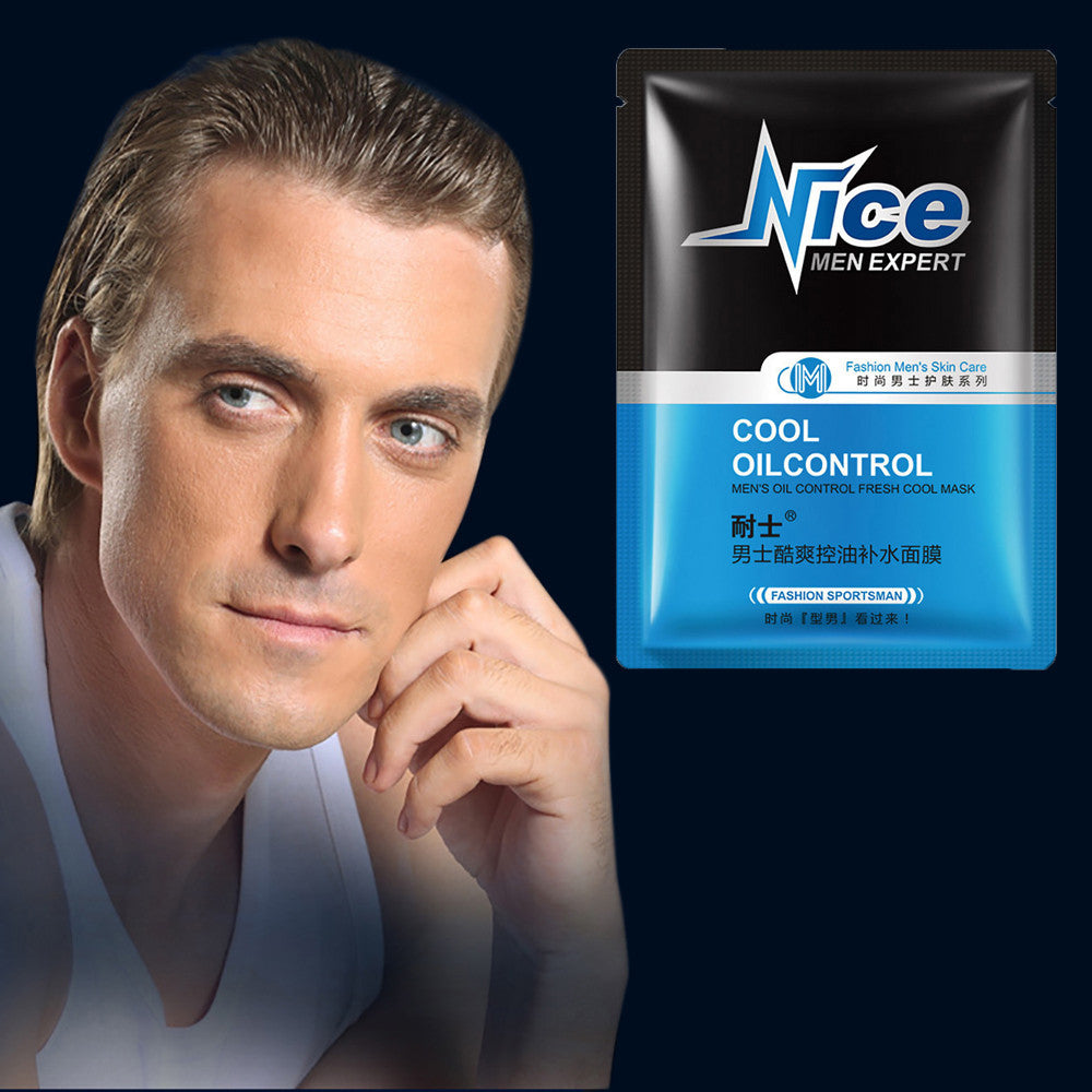 NEW Man Moisturizing Facial Control Oil Face Mask Sheet Pack Essence