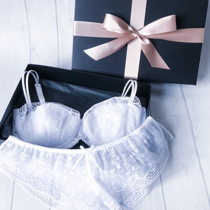 Trellis Lingerie Gift Set - includes 1 Padded Bra and 2 Shorts in a Gift Box (A to DD cup)
